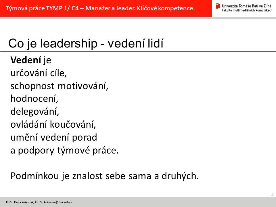 Co je leadership - vedení lidí