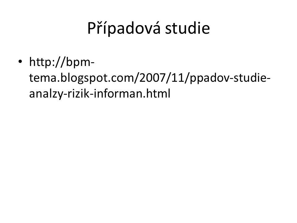 Případová studie http://bpm-tema.blogspot.com/2007/11/ppadov-studie-analzy-rizik-informan.html