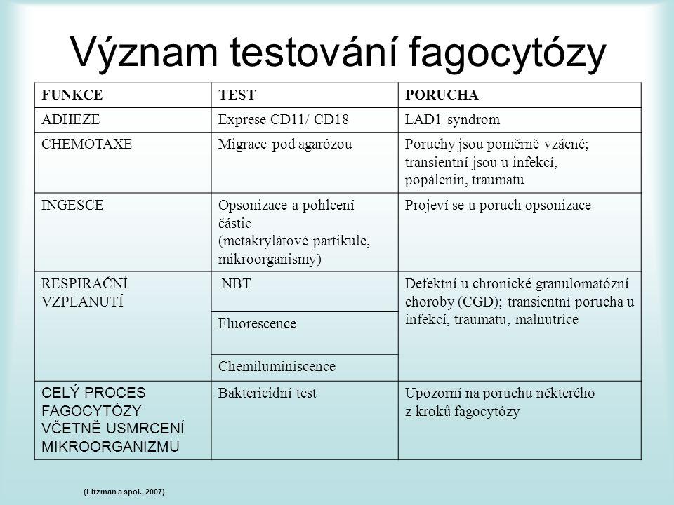 Význam testování fagocytózy