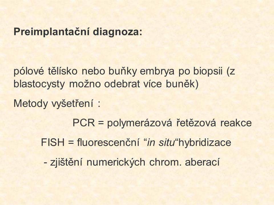 Preimplantační diagnoza: