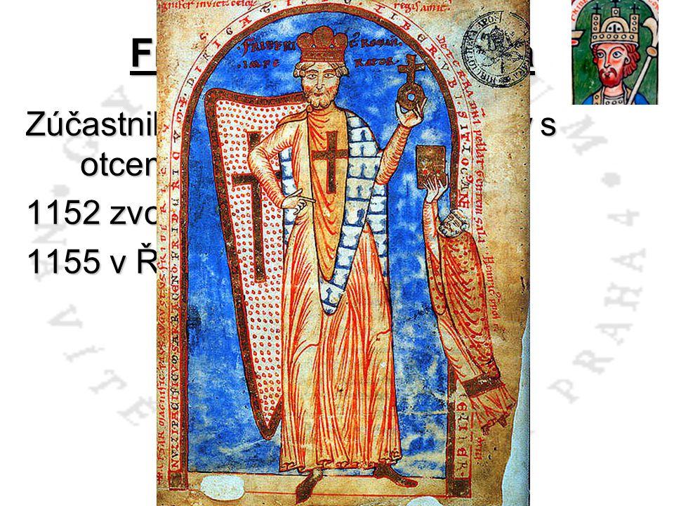Fridrich I. Barbarossa Zúčastnil se už 2. křížové výpravy s otcem a strýcem Welfem VI.