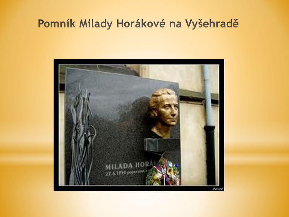 Pomník Milady Horákové na Vyšehradě