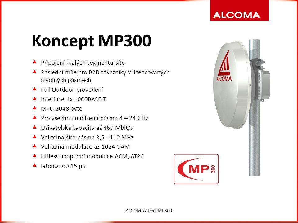Koncept MP300 Připojení malých segmentů sítě