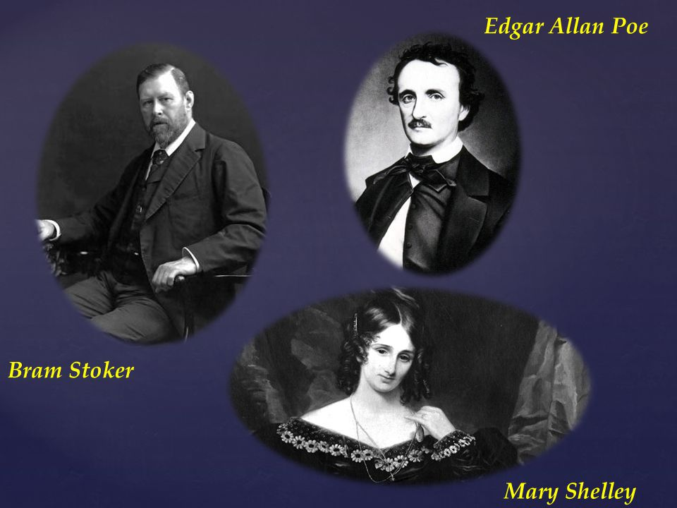 Edgar Allan Poe Bram Stoker Mary Shelley