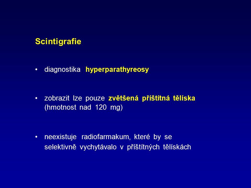Scintigrafie diagnostika hyperparathyreosy