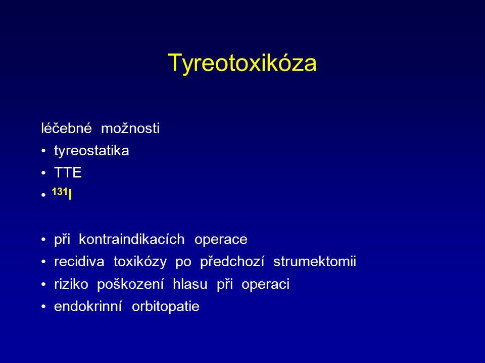 Tyreotoxikóza léčebné možnosti tyreostatika TTE 131I