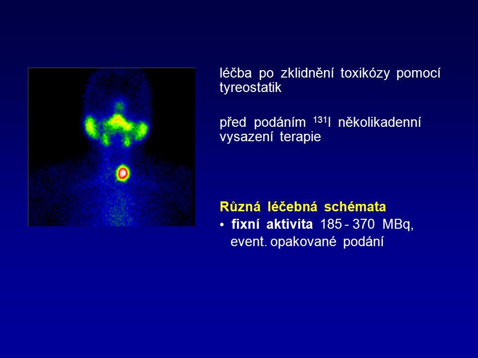 léčba po zklidnění toxikózy pomocí tyreostatik