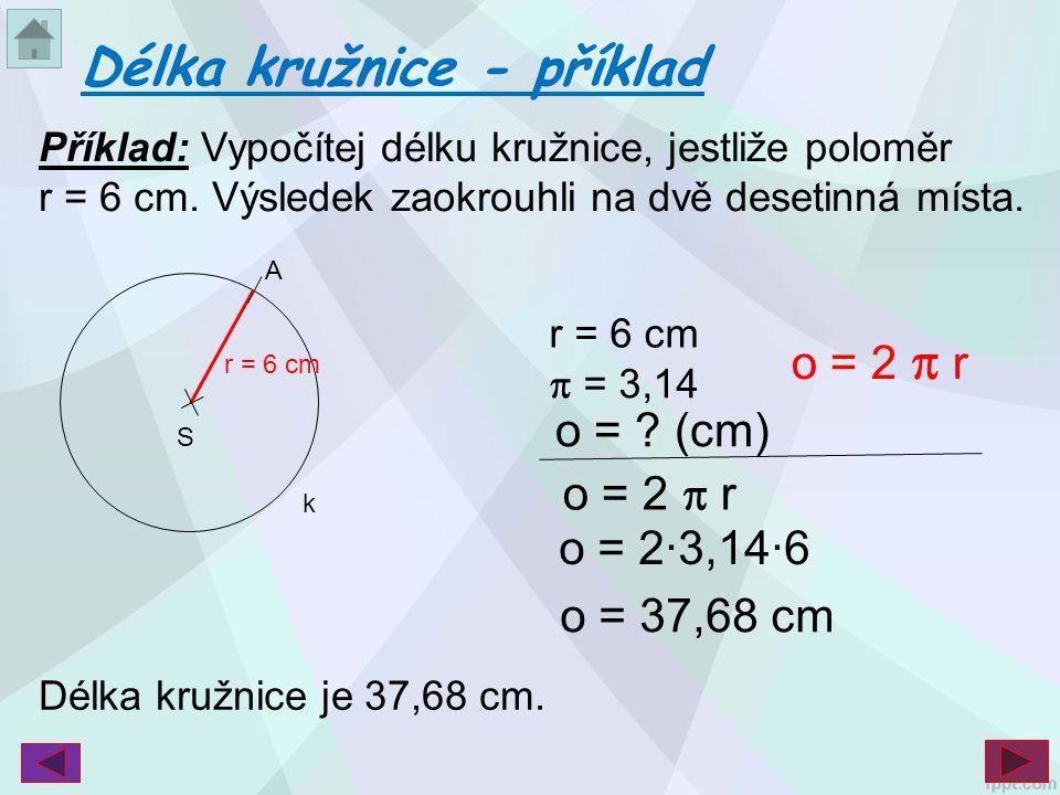 Délka kružnice - příklad