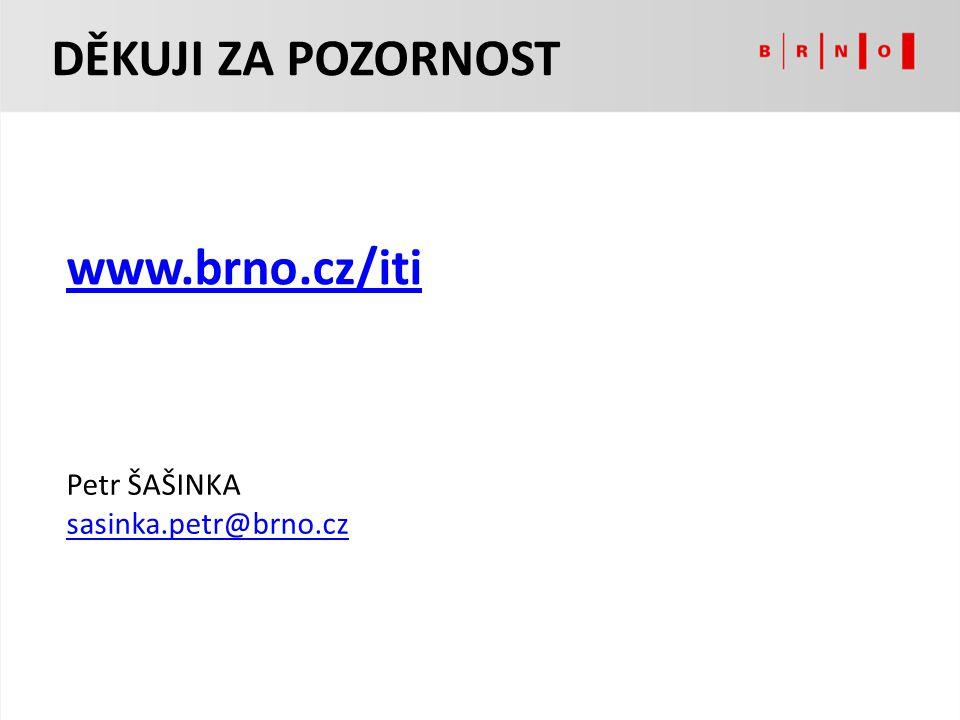 DĚKUJI ZA POZORNOST www.brno.cz/iti Petr ŠAŠINKA sasinka.petr@brno.cz