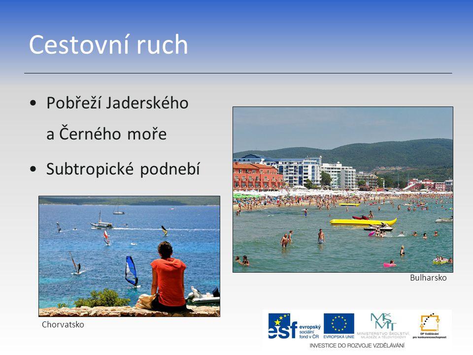 Cestovní ruch Pobřeží Jaderského a Černého moře Subtropické podnebí