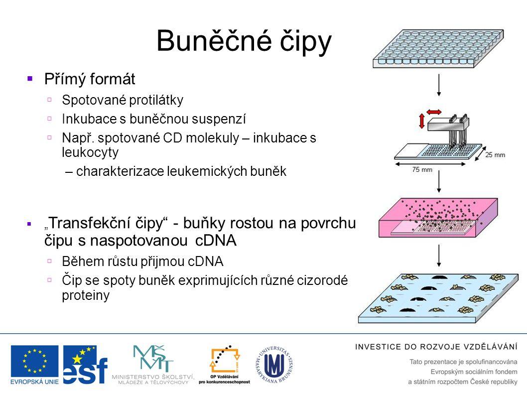 Buněčné čipy Přímý formát Spotované protilátky