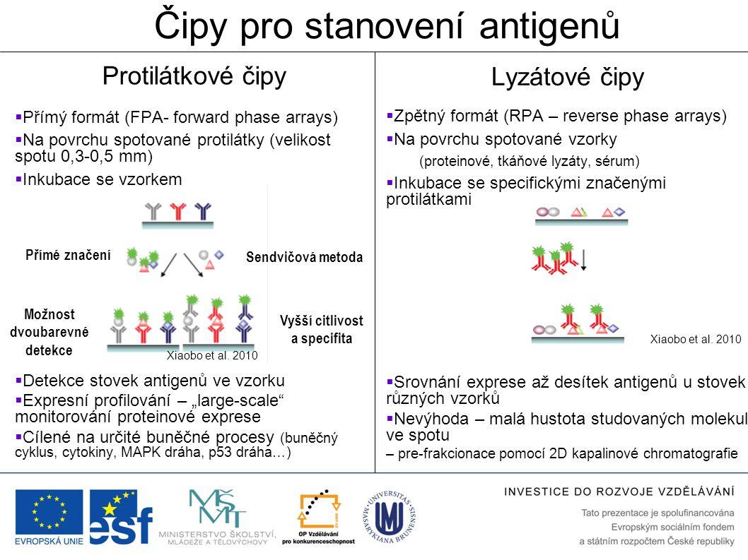 Čipy pro stanovení antigenů