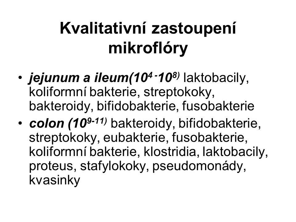 Kvalitativní zastoupení mikroflóry