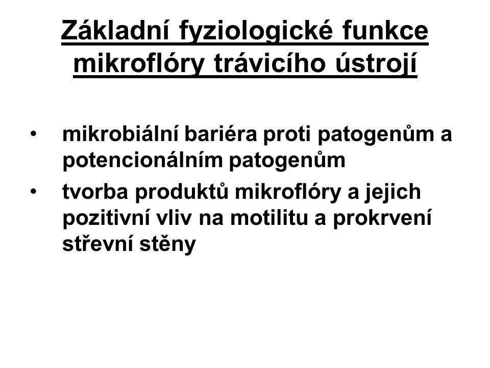 Základní fyziologické funkce mikroflóry trávicího ústrojí