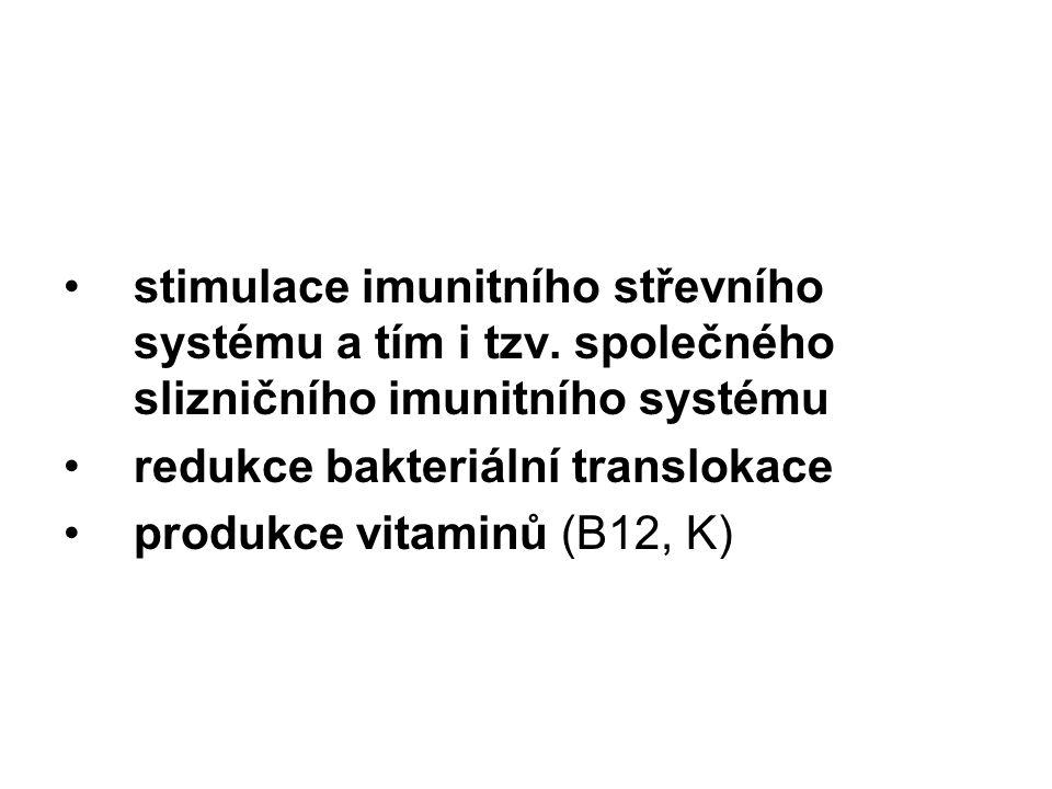 stimulace imunitního střevního systému a tím i tzv
