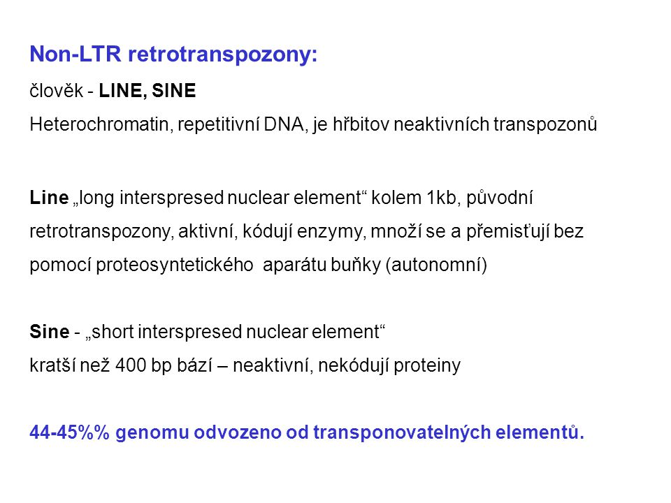 Non-LTR retrotranspozony: