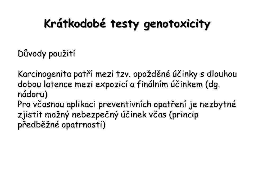 Krátkodobé testy genotoxicity