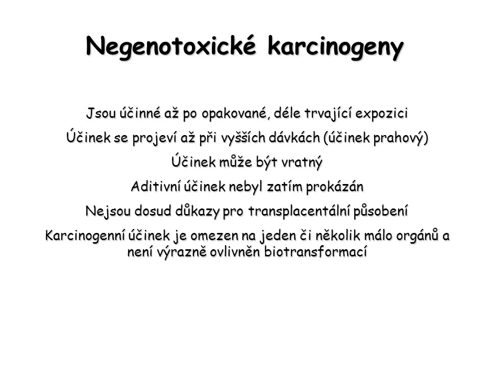 Negenotoxické karcinogeny