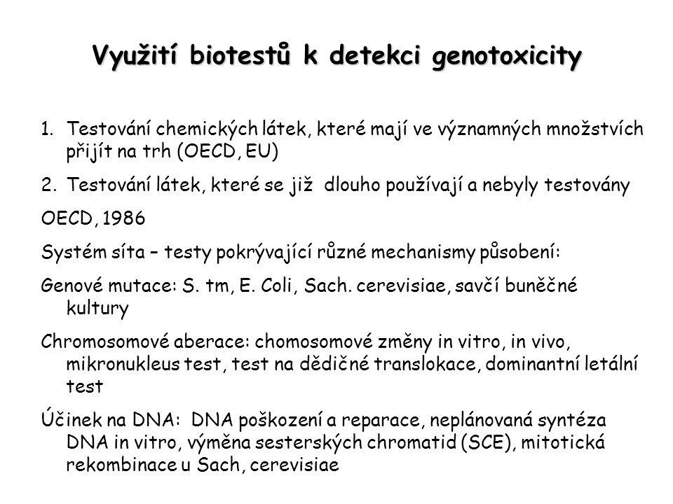 Využití biotestů k detekci genotoxicity