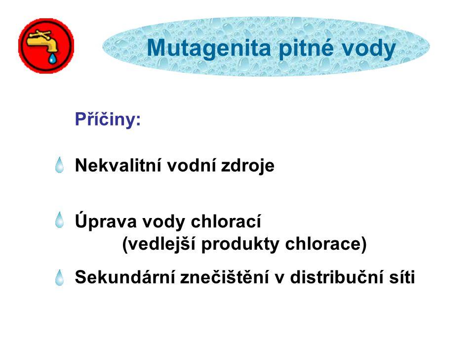 Mutagenita pitné vody Příčiny: Nekvalitní vodní zdroje