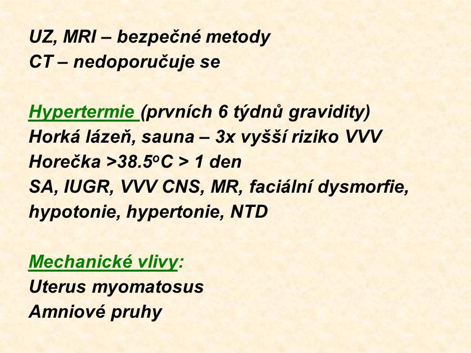 UZ, MRI – bezpečné metody