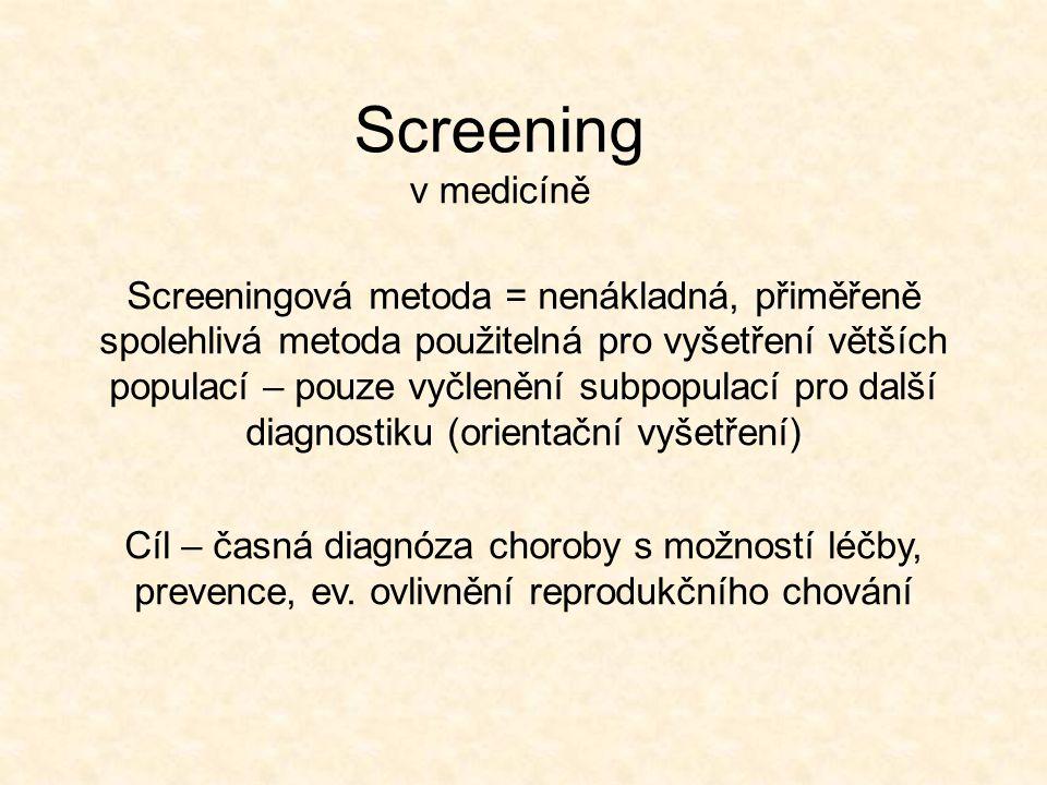 Screening v medicíně