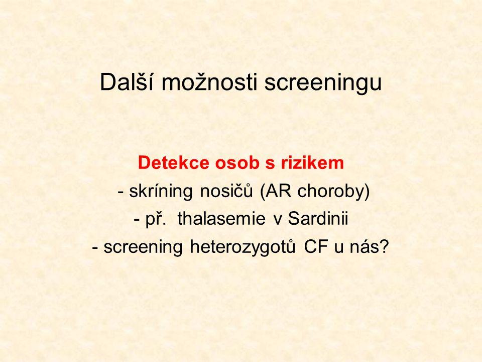 Další možnosti screeningu