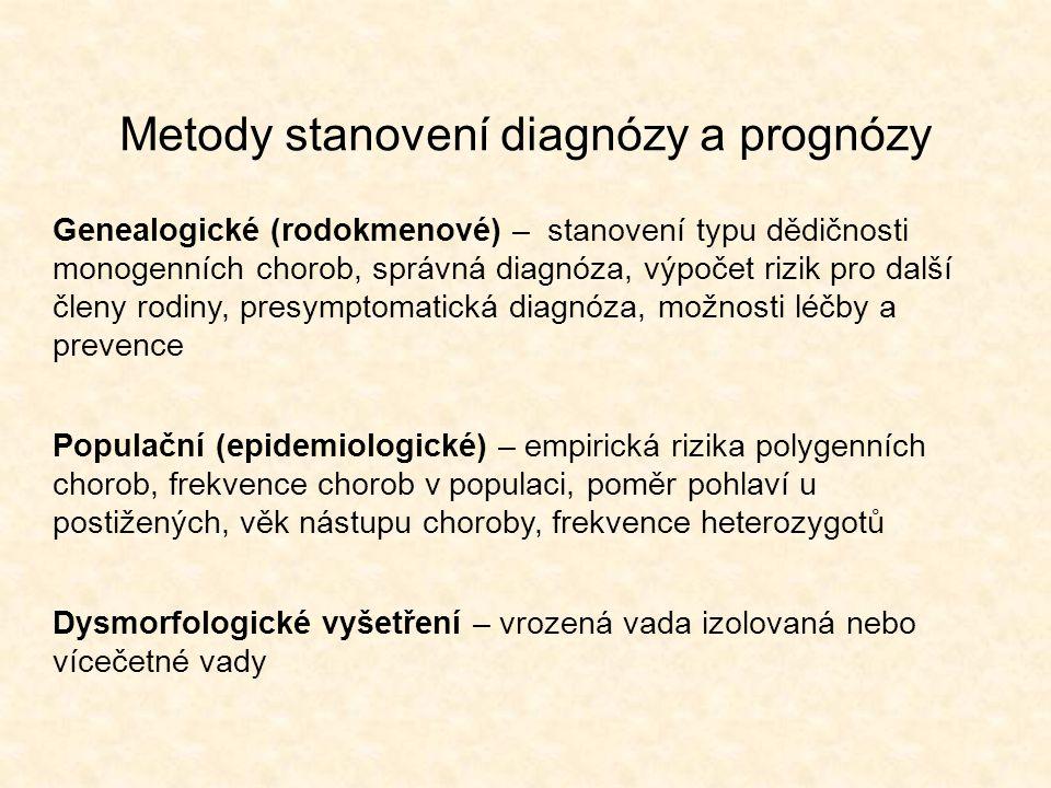 Metody stanovení diagnózy a prognózy