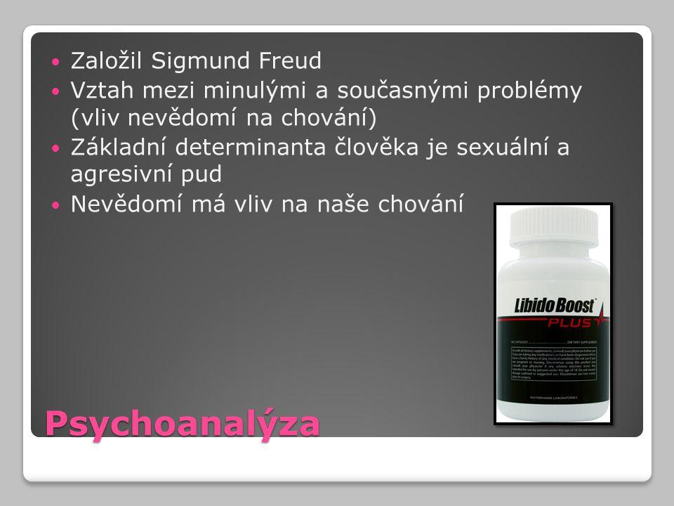 Psychoanalýza Založil Sigmund Freud