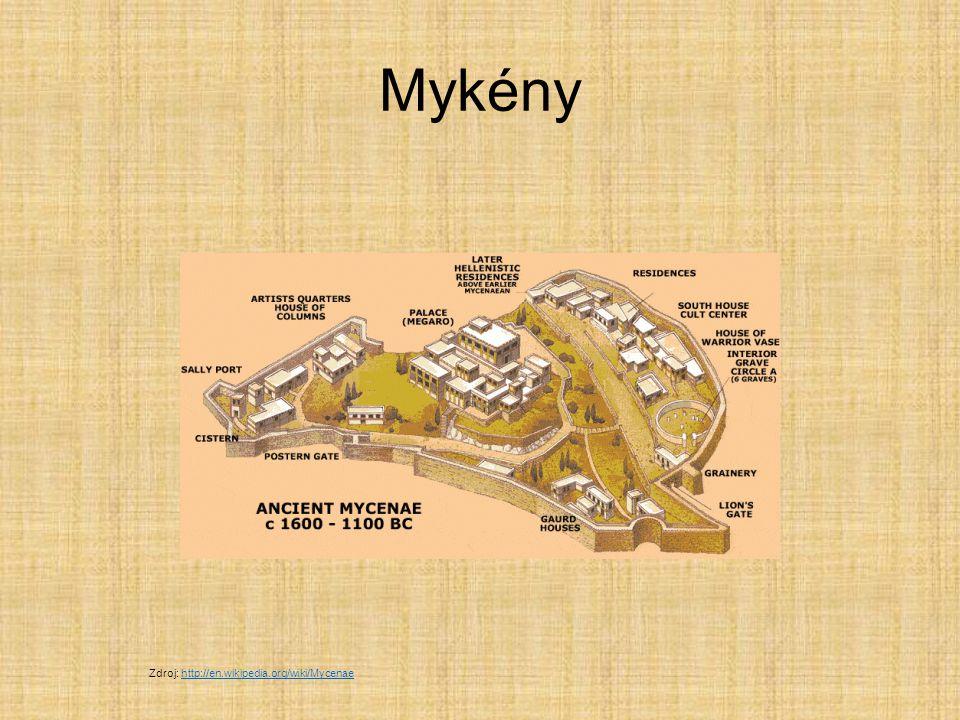 Mykény Zdroj: http://en.wikipedia.org/wiki/Mycenae
