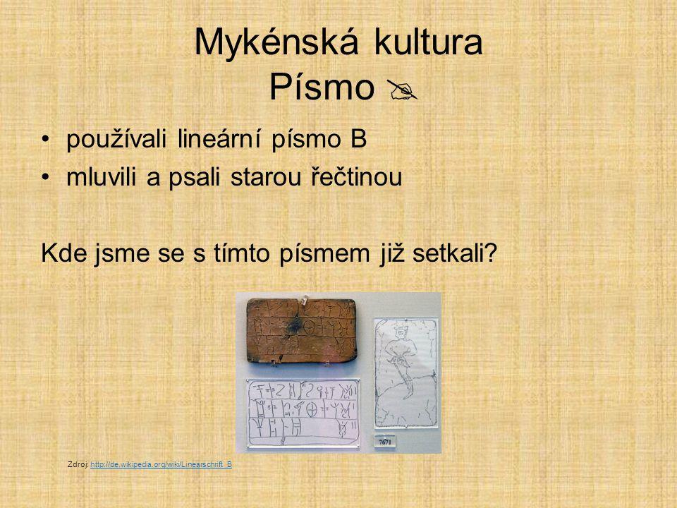 Mykénská kultura Písmo 