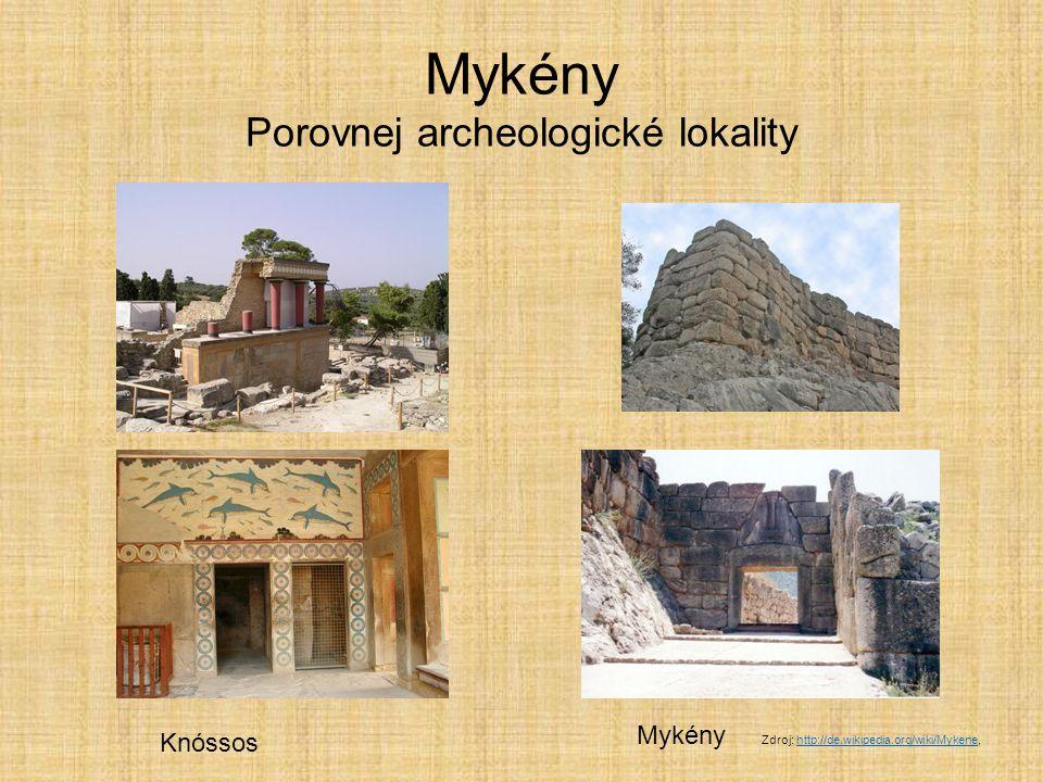 Mykény Porovnej archeologické lokality