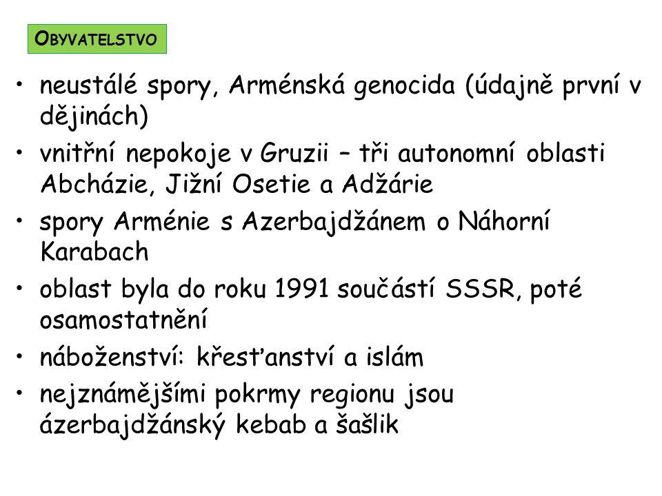 neustálé spory, Arménská genocida (údajně první v dějinách)