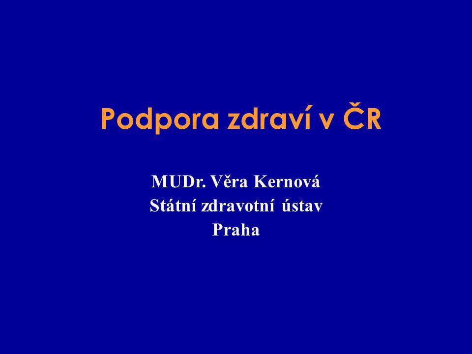 MUDr. Věra Kernová Státní zdravotní ústav Praha