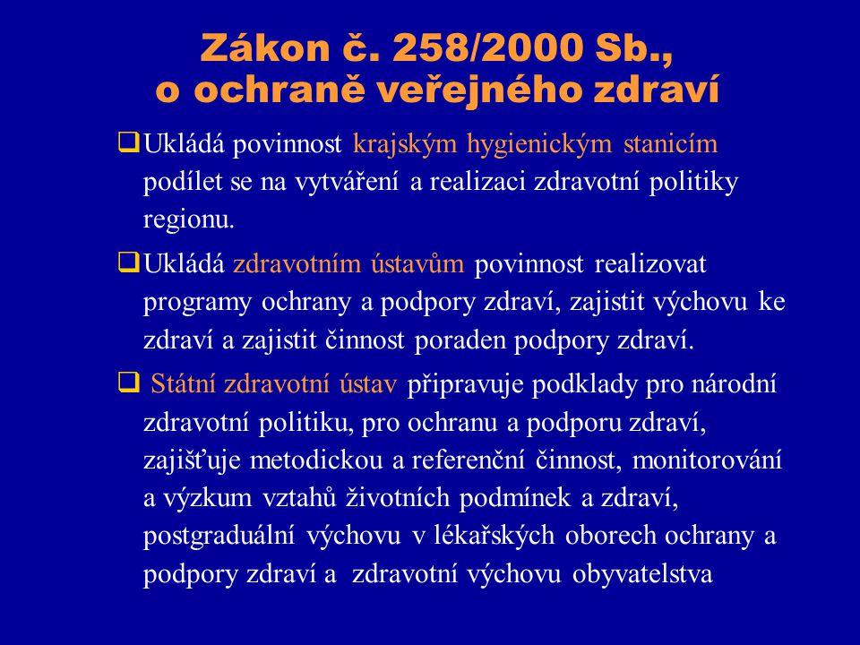 Zákon č. 258/2000 Sb., o ochraně veřejného zdraví