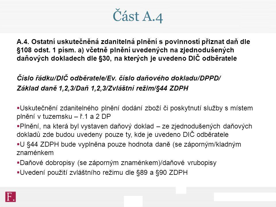 Část A.4