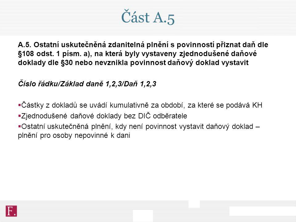 Část A.5
