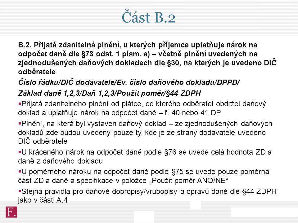 Část B.2