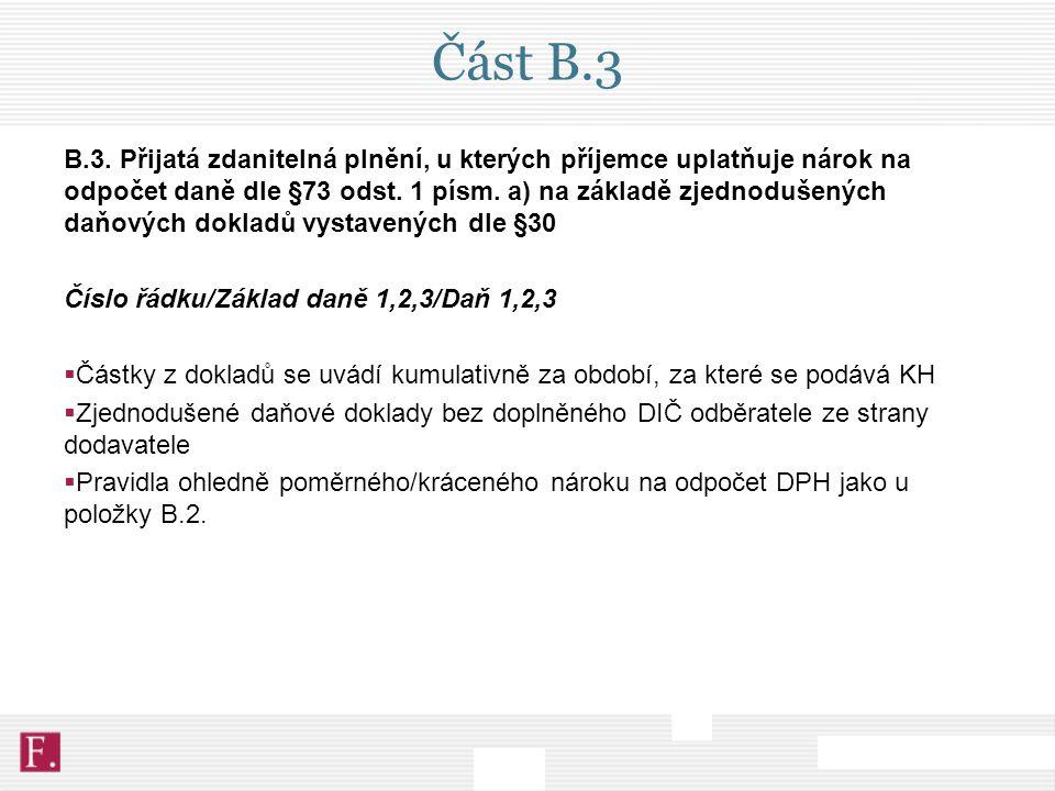 Část B.3