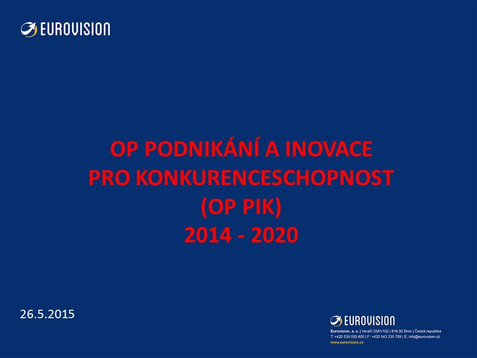 OP Podnikání a inovace pro konkurenceschopnost (op pik) 2014 - 2020