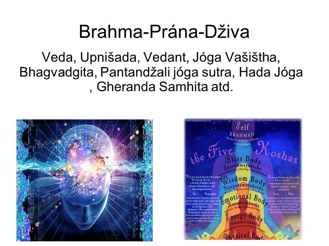 Brahma-Prána-Dživa Veda, Upnišada, Vedant, Jóga Vašištha, Bhagvadgita, Pantandžali jóga sutra, Hada Jóga , Gheranda Samhita atd.
