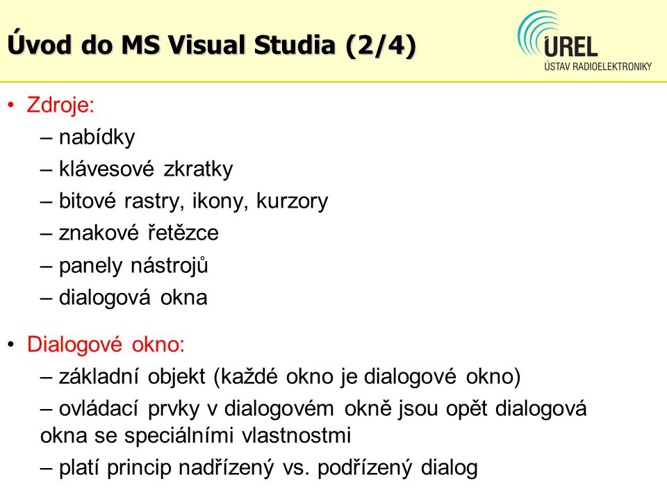 Úvod do MS Visual Studia (2/4)