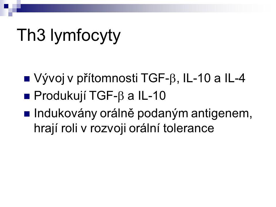 Th3 lymfocyty Vývoj v přítomnosti TGF-b, IL-10 a IL-4