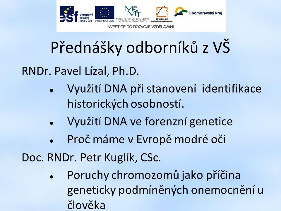 Přednášky odborníků z VŠ