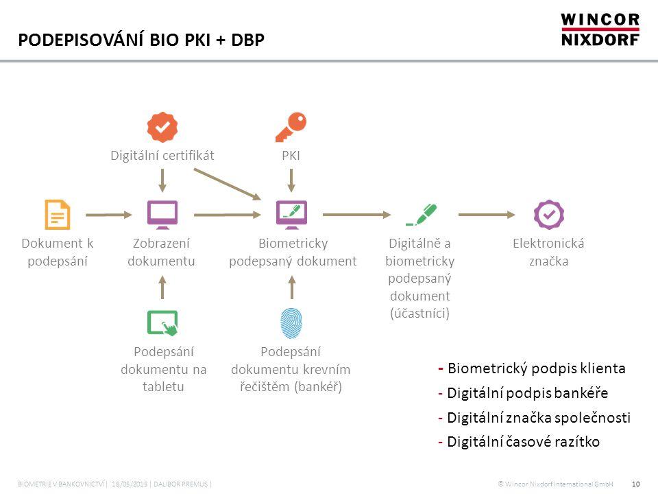 PODEPISOVÁNÍ BIO PKI + DBP