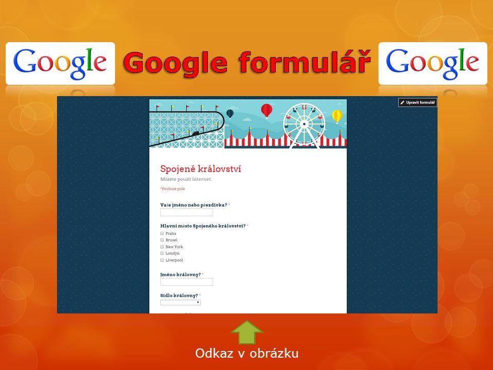 Google formulář Odkaz v obrázku