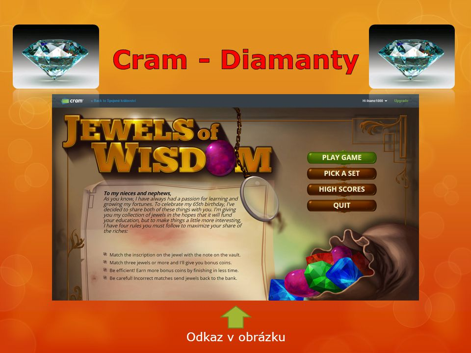 Cram - Diamanty Odkaz v obrázku