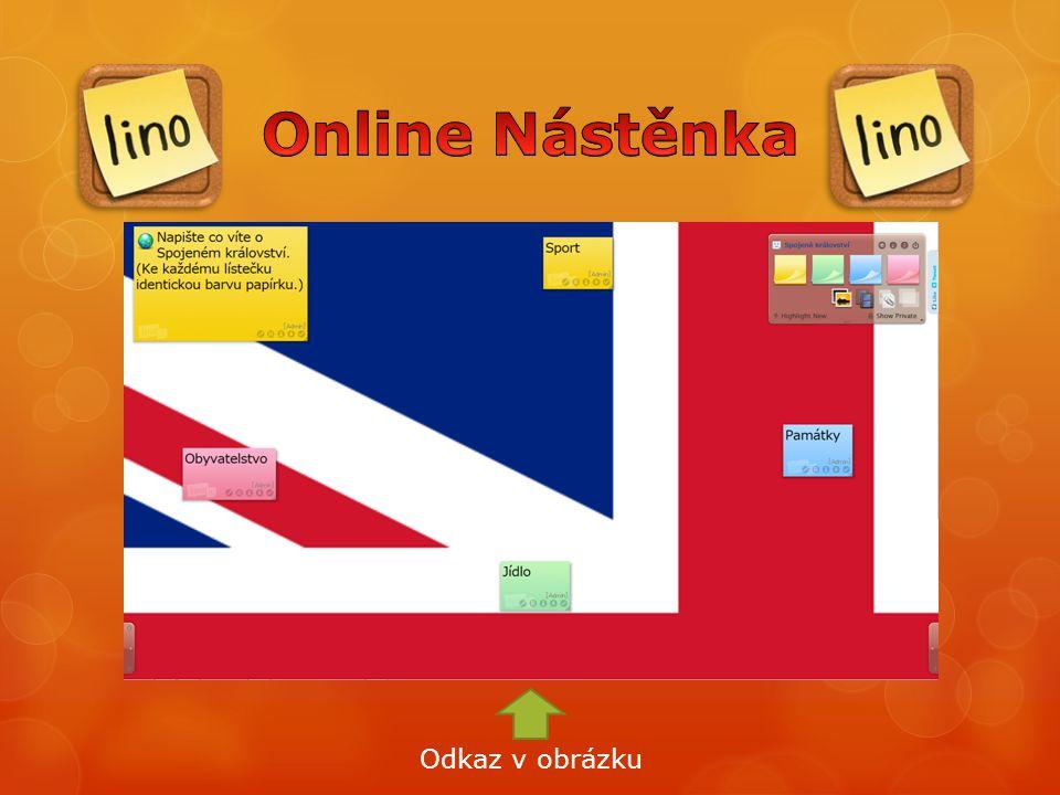 Online Nástěnka Odkaz v obrázku