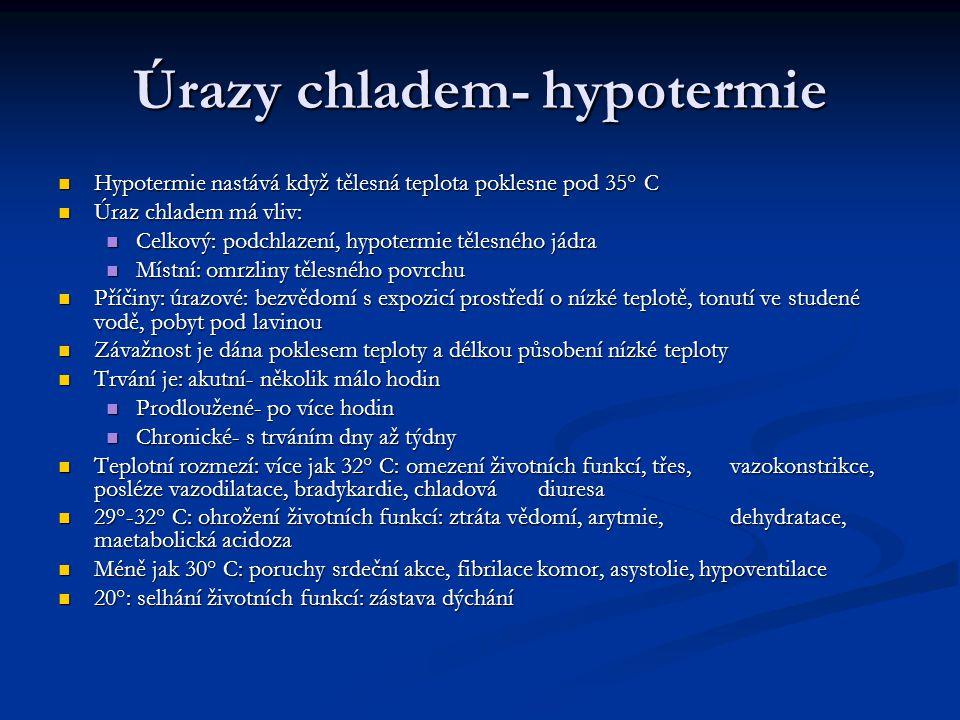 Úrazy chladem- hypotermie