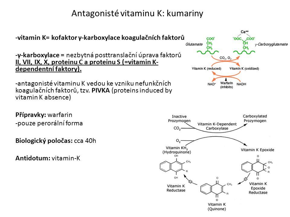 Antagonisté vitaminu K: kumariny